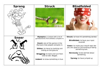 Flying Start Differentiated Lesson Plan and Vocab: The Snake Olympics (15)
