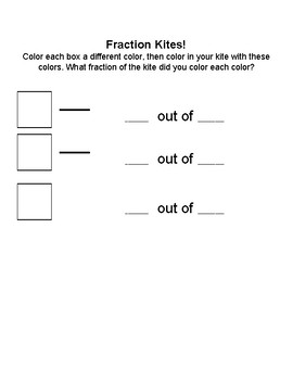 Flying into Fractions - Fraction Math Spring Time Activity
