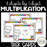Multiplying Four Digits by One-Digit Numbers Task Cards