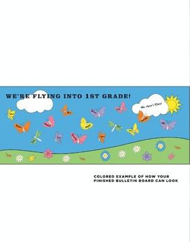 Flying into __ Grade Classroom Bulletin Board DIY Kit