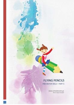 Flying pencils: Fine motor skills printables