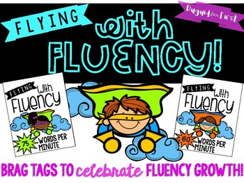 Flying with Fluency Brag Tags {Super Hero Themed}