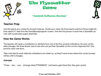 Ancient Cultures Review: Flyswatter Game