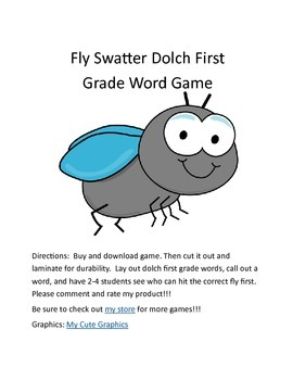 Flyswatter First Grade Dolch Sight Word Game