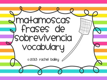 Flyswatter Game - Basic Spanish Classroom Sayings (Frases