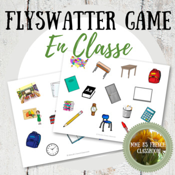 Flyswatter Game: Classroom vocabulary from D'accord 1 1B