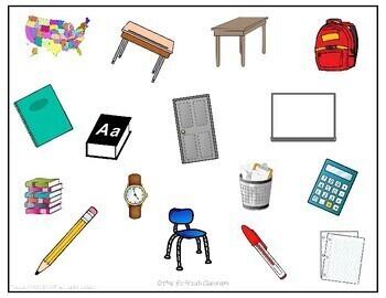 D'accord 1 Unité 1 (1B): Flyswatter Game: Classroom vocabulary
