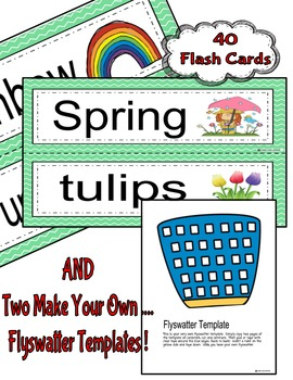 Flyswatter Game--SPRING-Themed 40 Word Vocabulary Game-ENGLISH Version