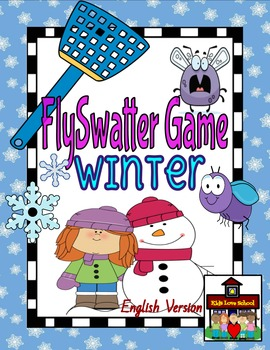 Flyswatter Game--WINTER-Themed 40 Word Vocabulary Game-ENGLISH Version