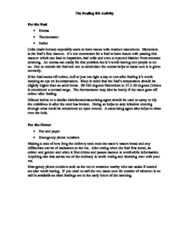 Foaling Kit Activity