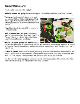 Foam Dart Gun Projectile Motion Lab