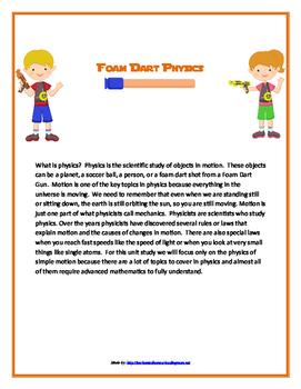Foam Dart Physics Unit