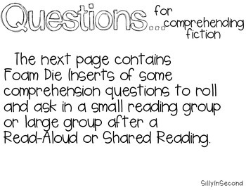 Rolling Fun with Story Elements and Comprehension Questions