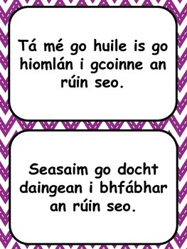 Focail & Frásaí Díospóireachta as Gaeilge // Words & Phrases for Debate in Irish