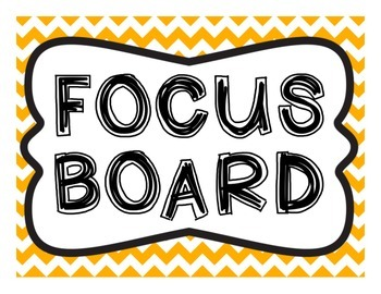 Focus Board Headers: 1st grade Reading Street & Go Math! Chevron Orange