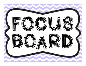 Focus Board Headers: 1st grade Reading Street & Go Math! Chevron Purple