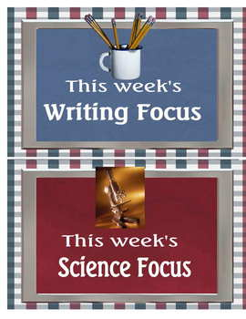 Focus Board Headers Americana colors with fun pictures