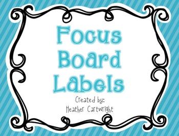 Focus Board Headers/Labels: Blue Polka Dot and Stripe