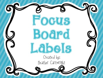 Focus Board Headers/Labels: Blue Polka Dot and Stripe