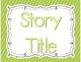 Focus Board Headers/Labels: Green Polka Dot and Stripe