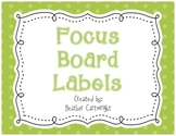 Focus Board Headers/Labels: Green Polka Dot and Stripe