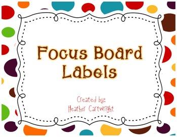 Focus Board Headers/Labels