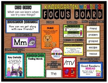 Focus Board- Kindergarten WONDERS
