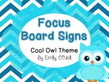 Focus Board Signs (Owl Theme)