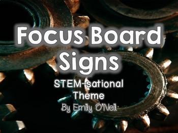 Focus Board Signs (STEM-sational Theme)