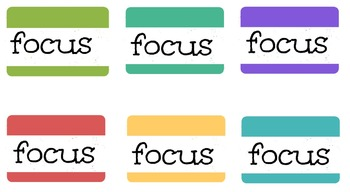 Focus Cards for Off Task Students