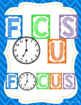 Focus Clock Class Decor Posters