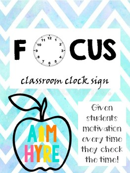 Focus Clock Sign
