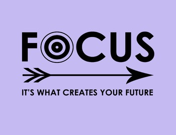Focus: It's What Creates Your Future 8.5 x 11 Classroom Poster