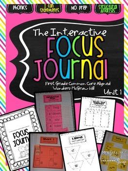 Interactive Focus Journal Unit 1 {Wonders Reading Program}
