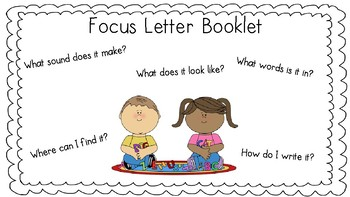 Focus Letter Booklet and Assessment