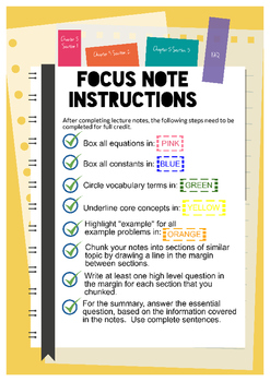 Focus Notes Infographic for Science