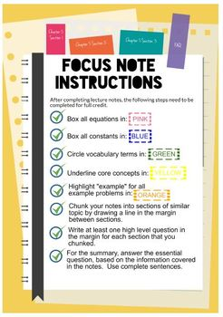 Focus Notes Template Pack with Bonus Poster