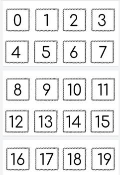 Focus Number Chart Number Practice