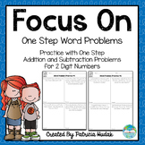 Focus On: One Step Addition and Subtraction Word Problems
