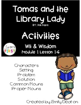 Wit and Wisdom Grade 1 Focus Posters for Tomas and the Library Lady