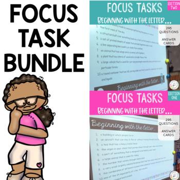 Focus Task - Letter Detective Bundle