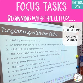 Focus Tasks - Letter Detective