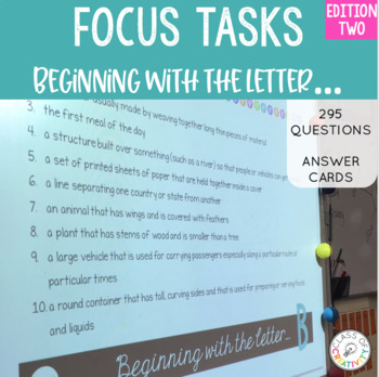 Focus Tasks - Letter Detective Edition Two!