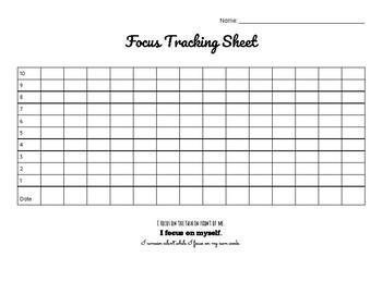 Focus Tracking Sheet