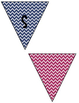 Focus Wall Banner Navy and Pink