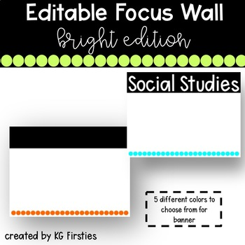 Focus Wall Banner and Heading Cards-Editable