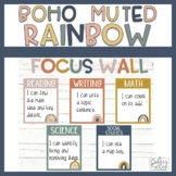 Focus Wall - Boho Rainbow Focus Wall Bulletin Board