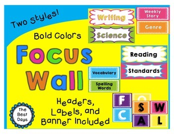 Focus Wall Headers: Bold Colors