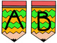 Focus Wall/ Bulletin Board Pencil Letters- Multi-Colored Bundle