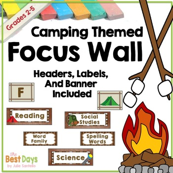 Focus Wall:  Camping Theme